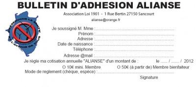 Bulletin ADHESION ALIANSE