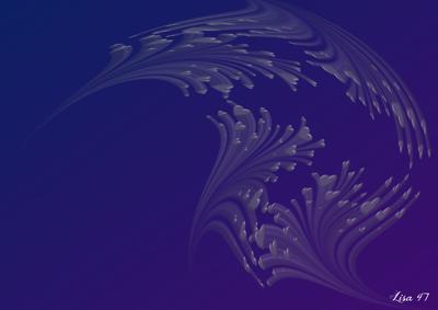 Bleu-violet déco coeurs