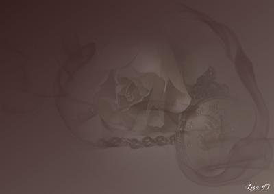 Brun avec rose et montre gousset