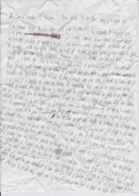 Le scan de la lettre