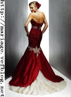 Красные свадебные платья Русалка Милая декольте тафта Кружева рук...