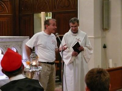 Bénédiction de la flamme en 2007