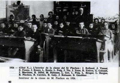 classe de monsieur Piechon en 1926