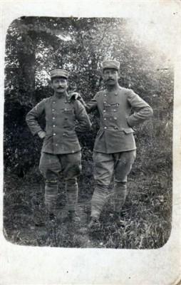 deux sorédiens en 1917 pendant la guerre