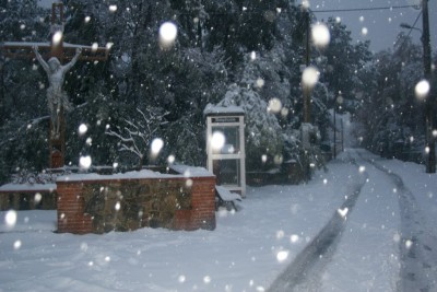 Le Christ sous la neige