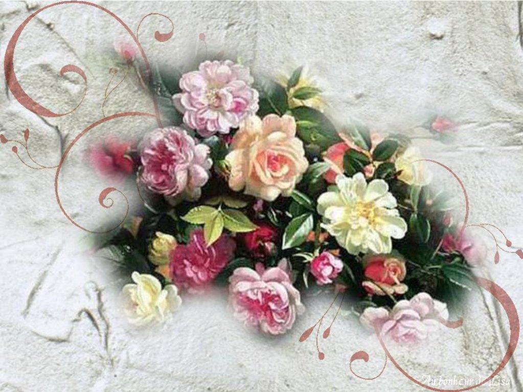 fond ecran bouquet de fleurs