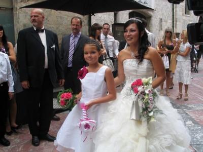 la mariée et sa fille !