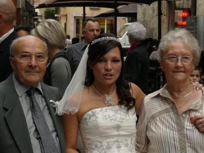 avec mon grand-père et ma mamie