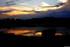 coucher du soleil sur le site des Rohrma