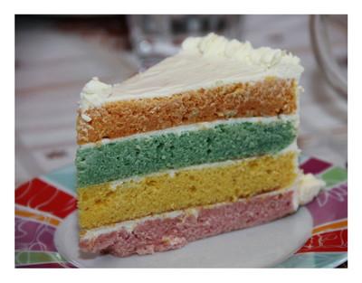 Recette Rainbow Cake Kinder