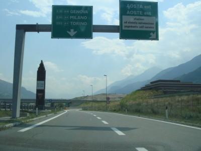 sortie Aosta est