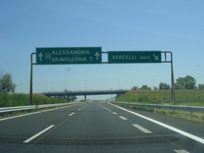 sortie Vercelli ovest (Verceil ouest)