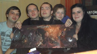 De gauche à droite : Rodrick, Salamander, Karoom, Félindra et Krush