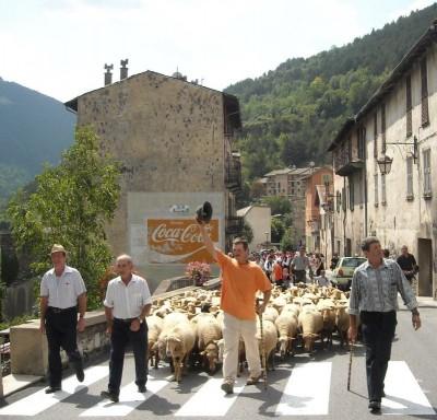 les bergers mènent leur troupeau