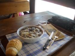 Polenta, cinghiale, parmigiano...hummm!