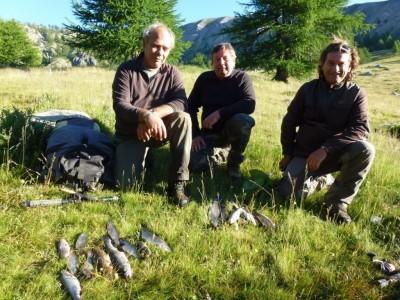 Amis vençois, Jean-Marc et Marc pêchent, Jean-louis profite de l'ambiance et du paysage!
