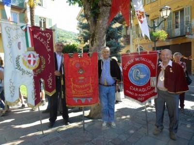 Les représentants des confréries de Narzole, Dronero et Caralio.