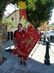 Avec les lanceurs de drapeaux de Vingtimille ...
