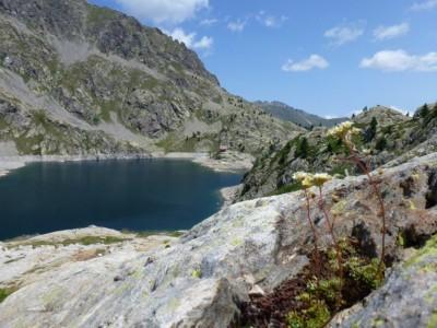 Lac Vert, et le refuge de Fontanalbe.