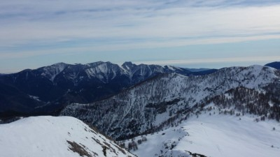 Du mont Chajol, la Corse.
