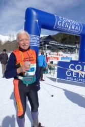 Pietro Martinengo, 78ans, doyen de la course.2nd des Vétérans4.