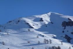 moins d'une demie heure plus tard les compétiteurs sont déjà sur la crête du Mont Chajol.