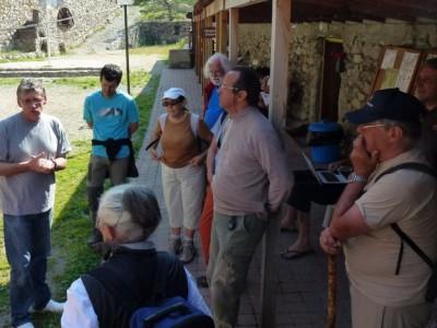 Le directeur, Christian Le Martelot accueille, avec Bruno Ancel, les visiteurs.