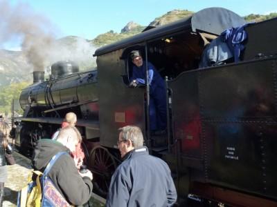 La Locomotive vapeur Trenitalia 740-244 de 1920. 740, c'est le modèle. 244, le N° sur 479 construites!