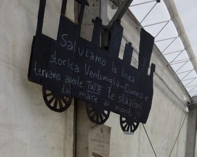 """Exposition de dessins. """"Sauvez la ligne historique Vingtimille-Cuneo"""