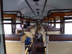 L'intérieur d'un wagon Corbellini.