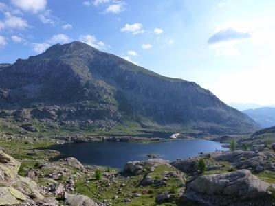 Lacs Fourca, Long et le Mont Bego.