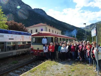 Quand le train Rétro croise le train des Merveilles 2017