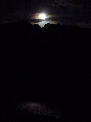 Pleine lune sur le Lac Saorgin.