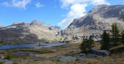 La Lac Fourca, le Bego.