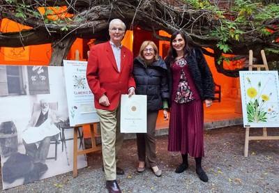 Marcus Bicknell, Danielle Gandolfi, conservatrice du musée, Gisella Merello, présidente du jury..