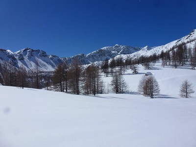Au fond, Le Mont Bego (Si cher à mon amie Emilia)