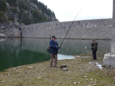 Au lac des Mesches, Mario et Jean-Pierre.