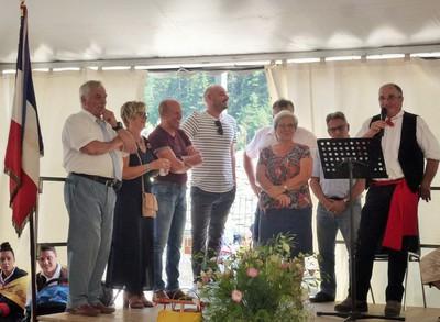 Discours des élus et du président du Comité du Vieux Tende : Paul Lanteri