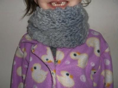 tricoter un faux col en laine