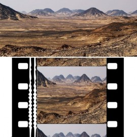 Image originale (haut) et image anamorphosée sur une pellicule 35 mm (bas)