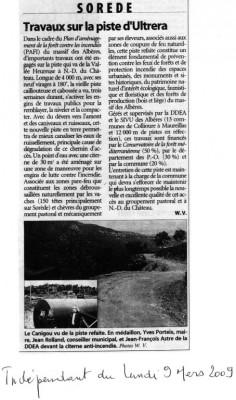 Article du 9 mars 2009.