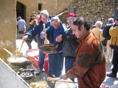 La traditionnelle omelette pascale