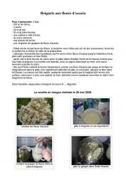 recette beignets acacia