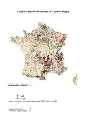 Arsenic et eau en France