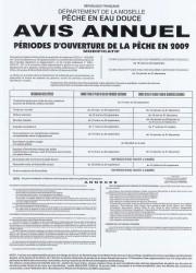 avis annuel Moselle 2009
