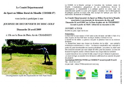 disc-golf à CHAMBREY