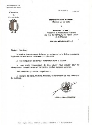courrier de la Mairie
