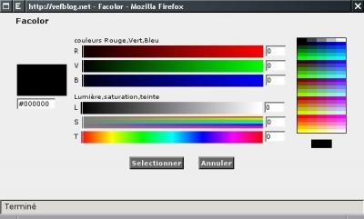 Facolor pour choisir les couleurs