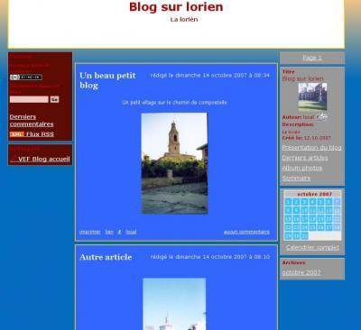 Blog avec 2 menus