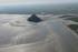 Le mont St. Michel vu du ciel